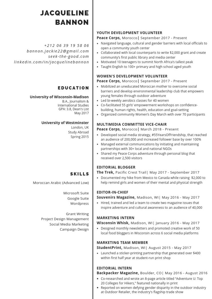 Spring 19 Resume