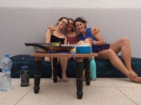 3 GALS ON A ROOF